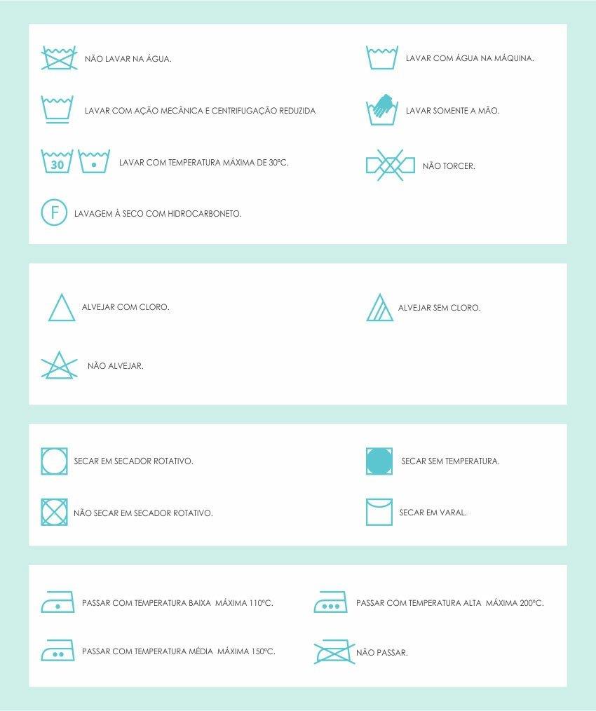 simbolos de lavagem