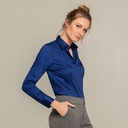 camisa social azul arabella modelo selecionado