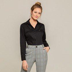 camisa social preta charlie classica