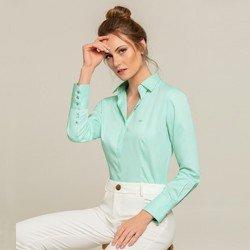 camisa social menta lizzie modelo selecionado
