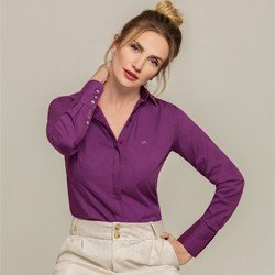 camisa personalizada violeta donatella modelo selecionado