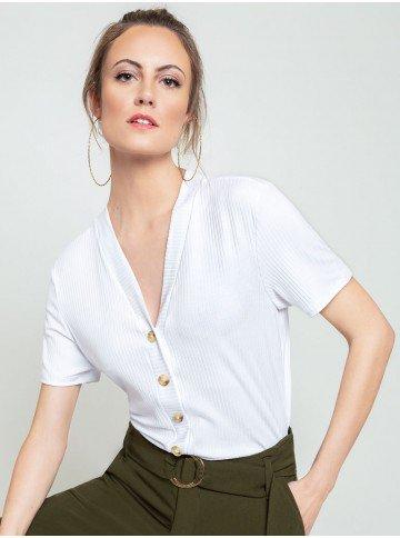 blusa off white agnes frente