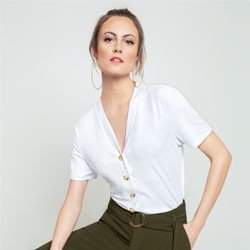 blusa off white agnes modelagem