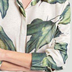 camisa folhagem catherine detalhes