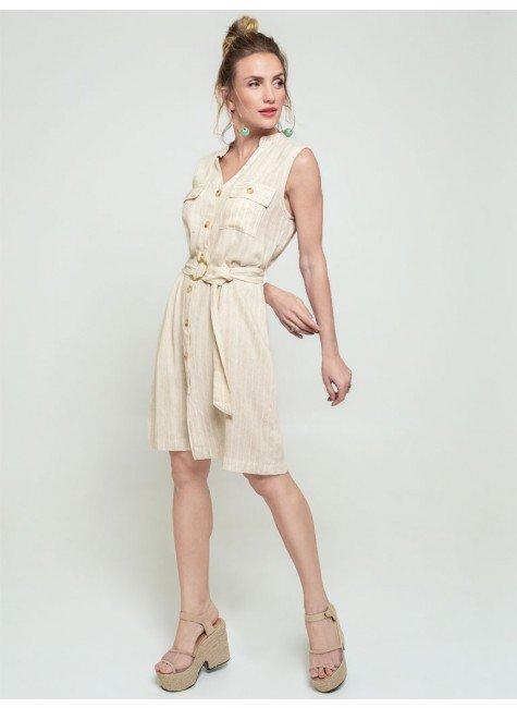 vestido listrado com bolsos allison frente2