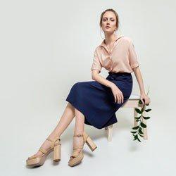 camisa rose manga curta coralina geral
