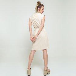 vestido areia listrado allison modelagem