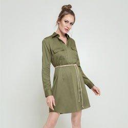 vestid verde militar flavia geral