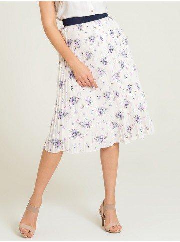 saia plissada floral marisol frente