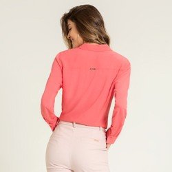 camisa social coral camelia modelagem