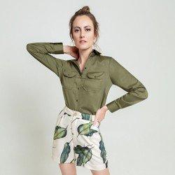 camisa verde militar dragona cassia geral