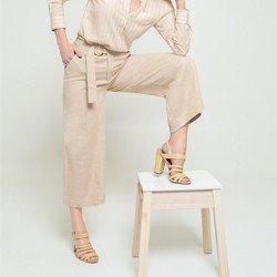 calca pantacourt areia jaine tecido modelagem