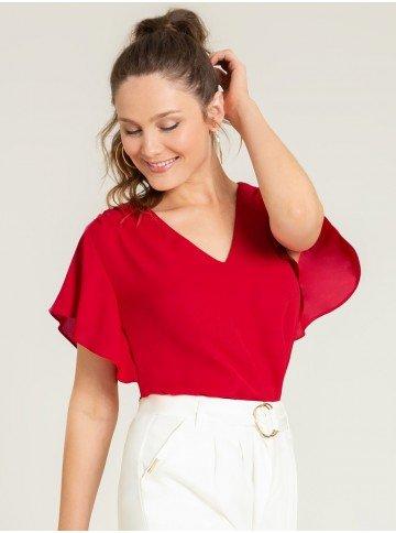 blusa ampla vermelha alberta frente