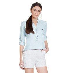 blusa jeans manga longa suzy geral