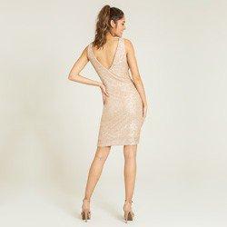 vestido paete champagne salma modelagem