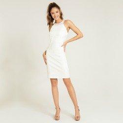 vestido gola alta off white sandrini geral