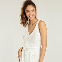 vestido renda off white dominique tecido