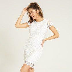 vestido renda off white viviene geral