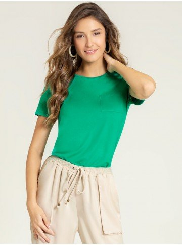 blusa malha verde maindra frente