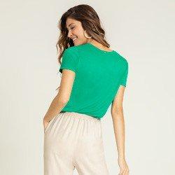 blusa verde com bolso maindra modelagem
