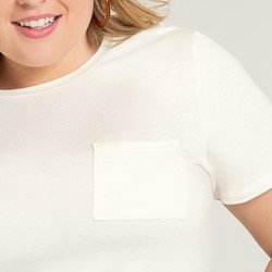 blusa off white com bolsos valente bolso