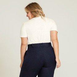 blusa off white com bolsos valente modelagem
