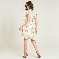 vestido transpassado floral caetana modelagem