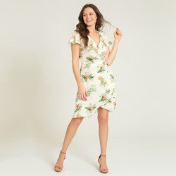 vestido transpassado floral caetana geral