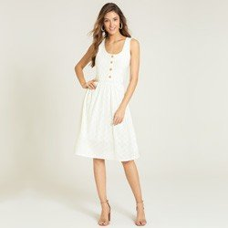 vestido laise off white katheryn geral