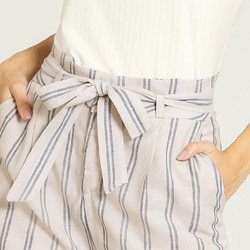 shorts clochard listrado karoena detalhes