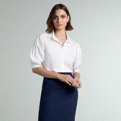 camisa off white mangas bufantes izaira geral