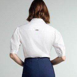 camisa off white mangas bufantes izaira modelagem