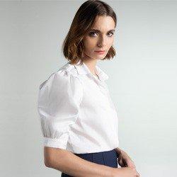 camisa off white mangas bufantes izaira detalhes