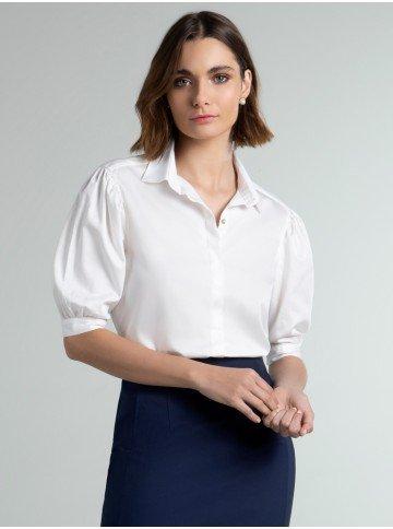 camisa manga bufante branca principessa izaira