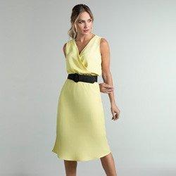 vestido amarelo transpassado daya geral