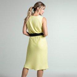 vestido amarelo transpassado daya modelagem