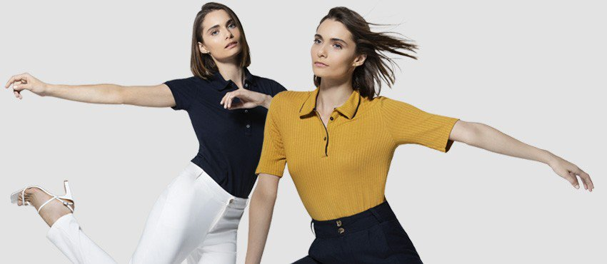 Banner blog camisa polo feminina