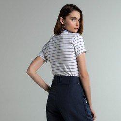 camisa polo listrada off white steffi modelagem