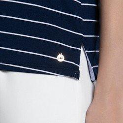 camisa polo marinho listrada dominika detalhe