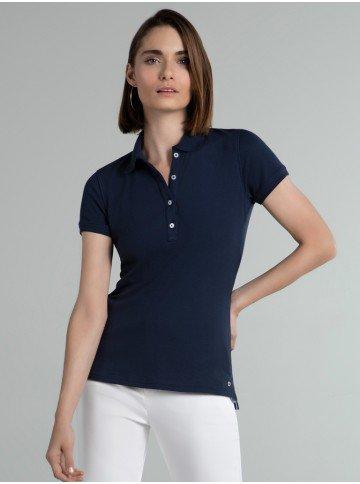 camisa polo marinho piquet amari frente