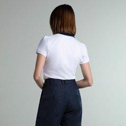 camisa polo branca crystal modelagem