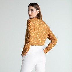 camisa social feminina estampada rania modelagem
