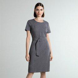 vestido cinza midi sammy geral
