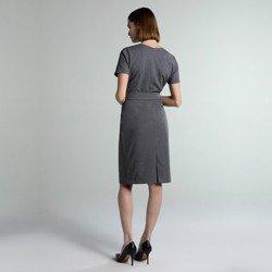 vestido cinza midi sammy modelagem