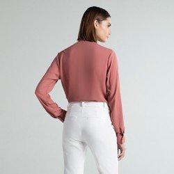 camisa social rose laco poppy modelagem