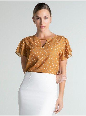 blusa caramelo estampada joanna frente