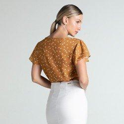 blusa caramelo estampada joanna modelagem