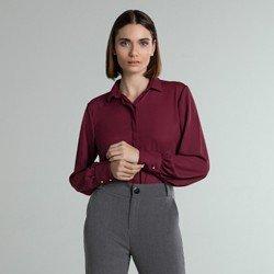 camisa social bordo manga ampla adriella geral