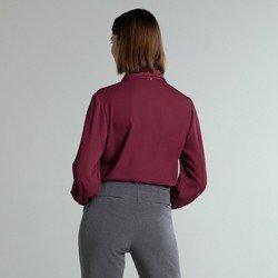 camisa social bordo manga ampla adriella modelagem