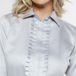 camisa com drapeado olimpia detalhe drapeado